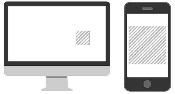 PCとスマホのバナー表示面積の違い