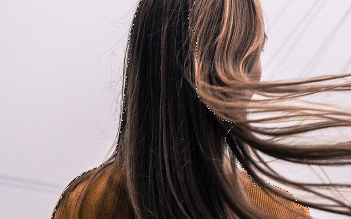 髪の毛の切り抜き方法
