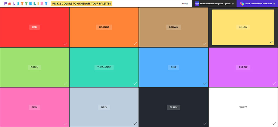 Palette List CCのスクリーンショット